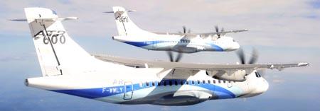 Dos ATR volando en formación / Foto: ATR