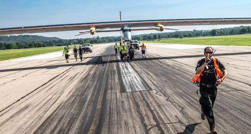 El Solar Impulse en lel aeropuerto de Cincinnati / Foto: Solar Impulse