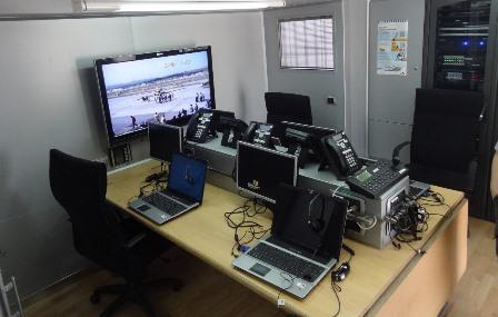 Zona de la unidad móvil desde la que se coordinan los medios que intervienen en los grandes incendios