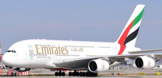A380 de Emirates, en el aeropuerto de Barcelona el 24-2-2013