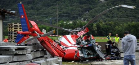 El helicóptero siniestrado el sábado