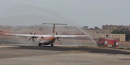 Air Nostrum opera la ruta con un ATR 72 / Foto: Aena