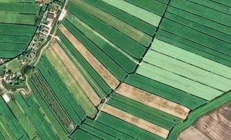 Parcelas agrícolas de los Países Bajos, captadas por Pléiades el 27-5-2013