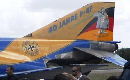 Pintura conmemorativa de los 40 años de servicio del F-4F Phantom en la Luftwaffe / Foto: Ministerio de Defensa