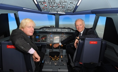 El alcalde de LOndres, Boris Johnson, y el presidente de Emirates, Tim Clark