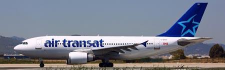 A310 de air Transat en el aeropuerto de Barcelona / Foto: Pere Escala