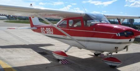 El avión participó el mes de julio en la exhibición mensual de FPAC en el aeropuerto de Sabadell