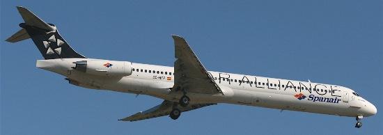 El MD-82 de Spanair (EC-HFP) fotografiado en Barcelona un mes antes del accidente / Foto: AeroTendencias.com