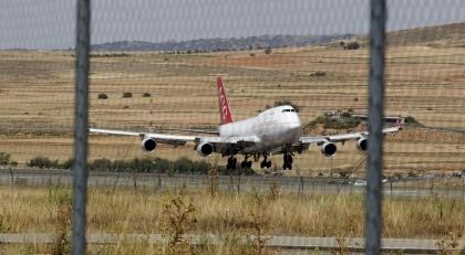 Aterrizaje del avión