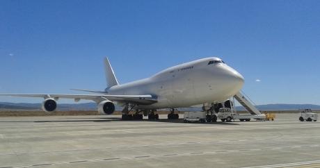 El avión que aterrizó el pasasdo jueves / Foto: Gobierno de Aragón