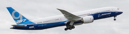 El Boeing 787-9, ayer el iniciar el vuelo / Foto: Boeing