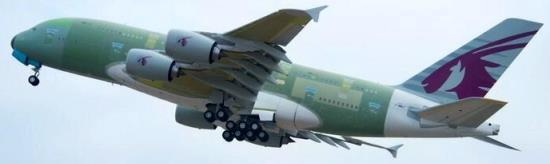 Qatar Airways recibirá en 2014 su primer A380 / Foto: Airbus