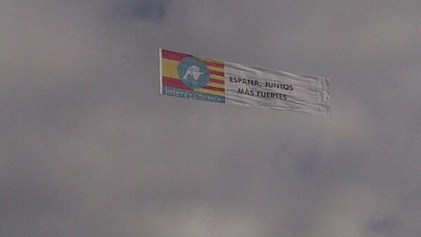 Detalle de la pancarta contratada por Intereconomía