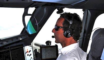 Fabrice Brégier, durante el vuelo / Foto: Airbus