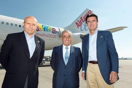 Los ministros Wert y Soria con Juan José HIgalfo