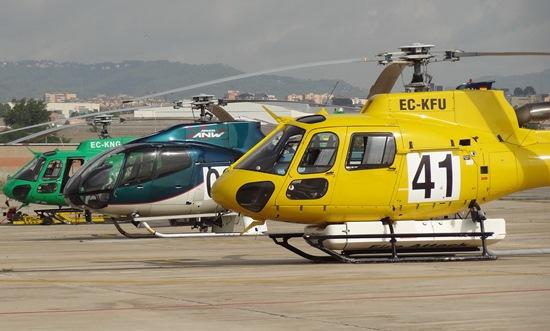 El Aeropuerto de Sabadell acoge empresas operadoras de helicópteros y los que utiliza la Generalitat / Foto: JFG