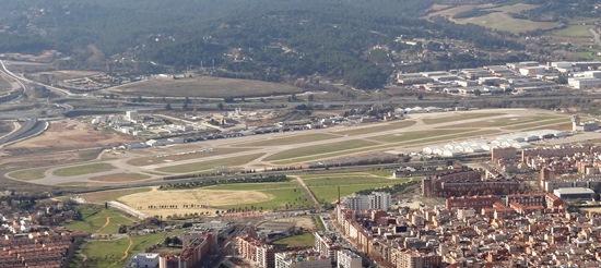 Imagen aérea del Aeropuerto de Sabadell / Foto: JFG