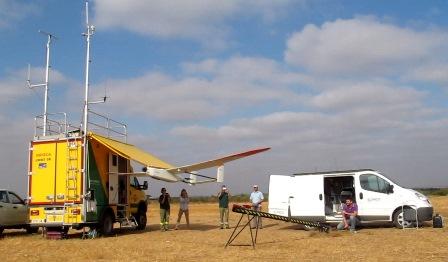 Lanzamiento del UAV E-300 Viewer de Elimco