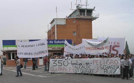 El Aeropuerto de Sabadell estuvo injustificadamente 21 días cerrado al tráfico aéreo