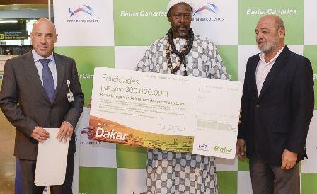 El pasajero 300 millones estrenaba la ruta a Dakar operada por BinterCanarias