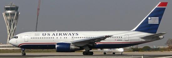 Boeing 767 de US Airways, en el aeropuerto de Barcelona / Foto: Pere Escala