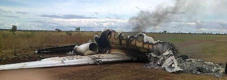 Restos del Hawker 25 matriculado en Máxico
