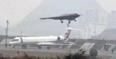 Imagen del drone chino iniciando un vuelo