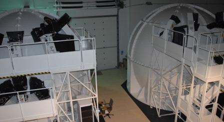 Los dos Full Mission Simulators del Centro de Entrenamiento de Pilotos del Ala 11 / Foto: Ministerio de Defrensa