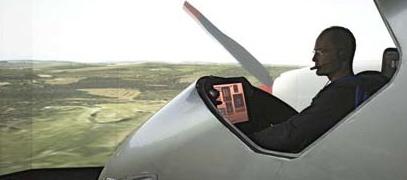 Imagen de archivo de Piccard en el simulador