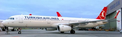 El A321 de Turkish Airlines, con el dispositivo aerodnámico / Foto: Airbus