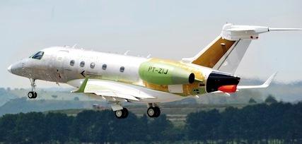 El Legacy 450 durante el primer vuelo / Foto: Embraer