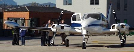 Bimotor Cessna 310L del Aeroclub