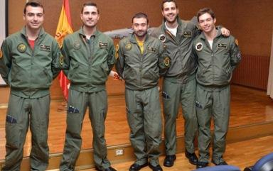 Los nuevos pilotos del F-16 / Foto: Ministerio de Defensa