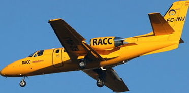 Avión sanitario del RACC / Foto: José Ramón Pérez Ebrí