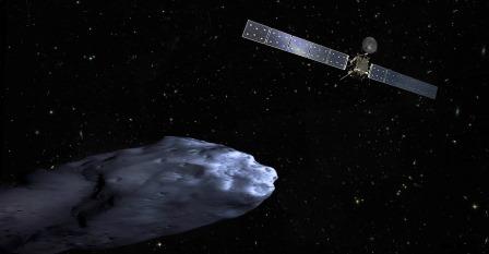 Imagen virtual de la sonda Rosetta