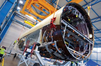 Sección trasera del fuselaje del A350 / Foto: Airbus