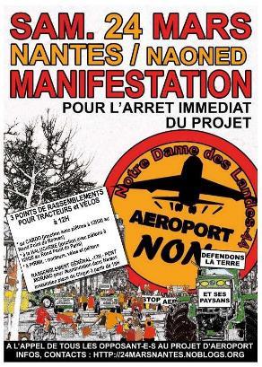 Uno de los carteles que se editaron para anunciar la manifestación