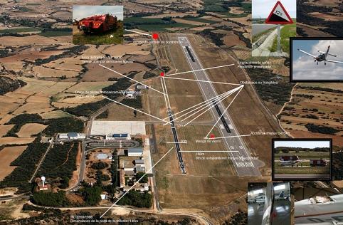El Aeropuerto de Huesca, casi inactivo y con diversos defectos