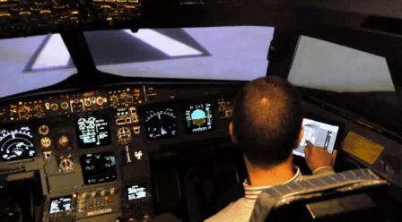 Pruebas de un iPad en un avión de Iberia