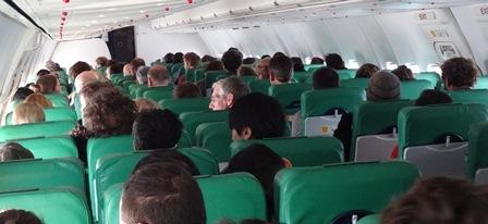 Pasajeros sw un vuelo de Transavia / Foto: JFG