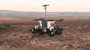Recreación del rover ExoMars en Marte, uno de lo programas de la ESA