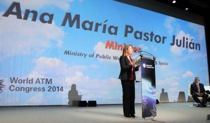 Ana Pastor, durante su intervención / Foto: Ministerio de Fomento