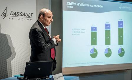 Eric Trappier, CEO de Dassault Aviation, informado de los resultados