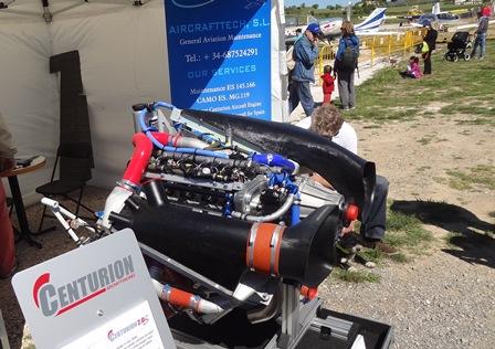 Motor diesel Centurion, expuesto en la edición de 2013 de Aerosport