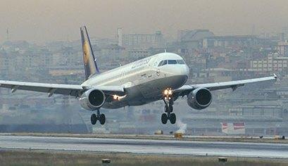 Aterrizaje de un A320