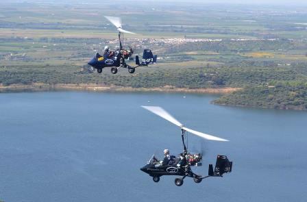 Primeros kilómetros en el aire de los autogiros/ Foto: Facebook
