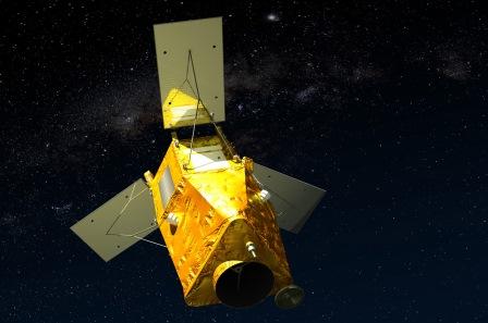 Imagen virtual del satélite kazajo