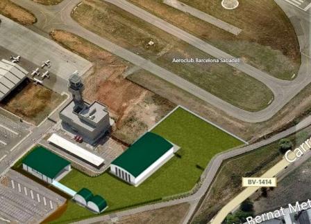 El hangar en el que se guardarán los aviones en vuelo estará cerca de la pista de rodadura