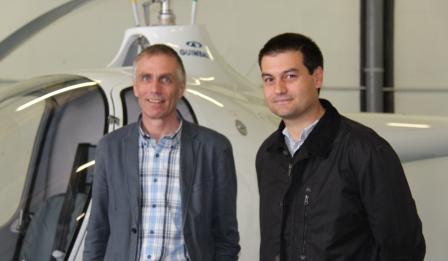 Bruno Guimbal, CEO de Guimbal, y Daniel Carrillo, CEO de Coptering