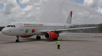 Uno de los nuevos A320 de VivaAerobus